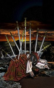 tarot- iluminati 10 of swords